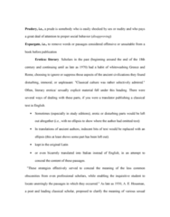 Classical Studies 3400E Chapter Notes -Prude