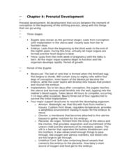 PSYC 2450 Chapter Notes - Chapter 4: Neural Tube, Lanugo, Morning Sickness