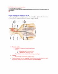 BPK 205 Chapter Notes - Chapter 17: Lung Volumes, High-Altitude Pulmonary Edema, Functional Residual Capacity