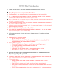 BPK 306 Study Guide - Midterm Guide: Cardiac Muscle Cell, Ryanodine Receptor 2, Resting Potential