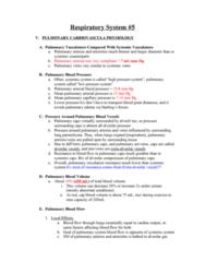 BPK 306 Lecture Notes - Pulmonary Vein, Pulmonary Artery, Alveolar Pressure