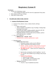 BPK 306 Lecture Notes - Bronchiole, Gas Exchange, Frataxin