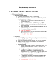BPK 306 Lecture Notes - Lung Volumes, Breathing Gas, Respiratory Tract