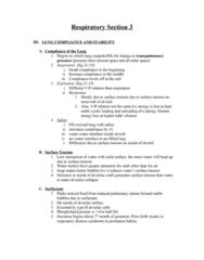 BPK 306 Lecture Notes - Alveolar Cells, Pulmonary Compliance, Transpulmonary Pressure