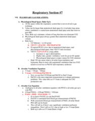 BPK 306 Lecture Notes - Alveolar Pressure, Blood Gas Tension, Hypercapnia