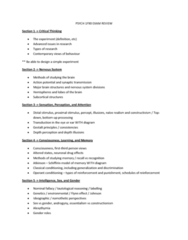 PSYC 1F90 Exam Review Outline