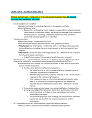 CHAPTER 6: HUMAN RESEARCH ARTICLES NOTES - HELLMAN, FREEDMAN, MARQUIS, ANGELL, BRODY