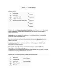 BIOL 1070 Study Guide - Final Guide: Winter Flounder, Ice Crystals, Antifreeze Protein