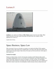 Geography 2090A/B Lecture Notes - Lecture 8: Moon Treaty, Armadillo Aerospace, Lunar Lander Challenge