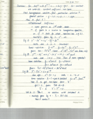 Applied Mathematics 2402A Lecture Notes - Matlab