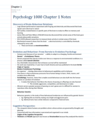 Psychology 1000 Chapter Notes -Central Nervous System, Sound Localization, Bipolar Disorder