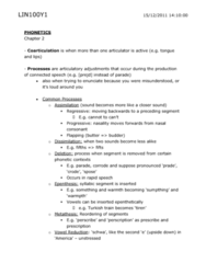 Chapter 2 - Phonetics Exam Guide
