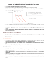 MGEB06H3 Chapter Notes - Chapter 10: Expenditure Function, Keynesian Cross, Aggregate Demand