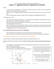 MGEB06H3 Chapter Notes - Chapter 11: Deflation, Nominal Interest Rate, Production Function