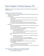 psychology-chapter-10-textbook-notes