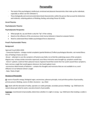 PSYC 102 Lecture Notes - Neuroticism, Reinforcement, Conscientiousness