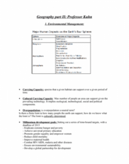 GEOG 1220 Lecture Notes - Overdraft, Hydrosphere