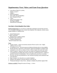 GEOG 1220 Study Guide - Final Guide: Reforestation, Cocobolo, Soil Health
