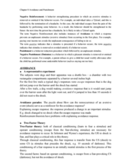 PSYC2210 Chapter 8 Avoidance and Punishment.doc