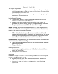 PSYC 2310 Chapter Notes - Chapter 17: Deinstitutionalisation, Cognitive Therapy, Systematic Desensitization