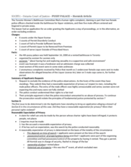 HORNICK ARTICLE NOTES