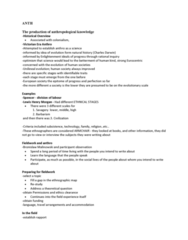 ANTH 2160 Study Guide - Final Guide: Ethnography