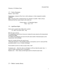 CHEM103 Study Guide - Midterm Guide: Rutherford Model, Oil Drop Experiment, Chemical Formula