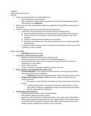 PSYC 2400 Chapter Notes - Chapter 6: False Memory Syndrome, Posttraumatic Stress Disorder, Sleep Disorder