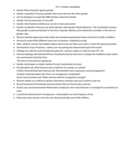 SOC102H1 Chapter Notes -Glass Ceiling, Gender Role, Gender Inequality