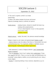 SOC250Y1 Lecture Notes - Concubinage, Political Economy, Homo Sapiens