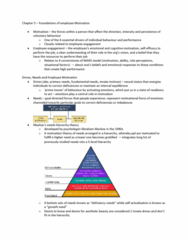 BUS 272 Chapter Notes - Chapter 5-6: Abraham Maslow, Employee Engagement, Expectancy Theory
