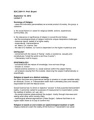 SOC250Y1 Lecture Notes - Agnosticism, Falsifiability, Reductionism
