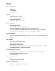 HIST 260 Lecture Notes - Union Movement, Income Tax