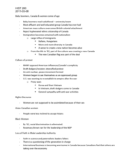 HIST 260 Lecture Notes - Judy Lamarsh, International Business, Baby Boomers