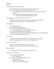 HIST 260 Lecture Notes - Consciousness Raising, Combined Oral Contraceptive Pill, Sue Johanson