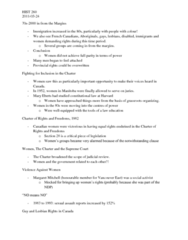 HIST 260 Lecture Notes - Antifeminism, Sheila Copps, Canadian Alliance