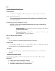 HRM 2600 Lecture Notes - Markov Chain, Balanced Scorecard, Brand Management