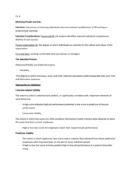 HRM 2600 Lecture Notes - Independence I Culture, Extraversion And Introversion, Conscientiousness
