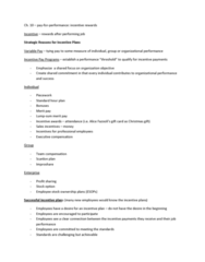 HRM 2600 Lecture Notes - Restricted Stock, Customer Service, Tax Preparation In The United States