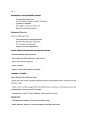 HRM 2600 Lecture Notes - Occupational Safety And Health, Pension, Unemployment Benefits