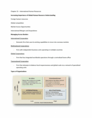 HRM 2600 Lecture Notes - Culture Shock, Sensitivity Training, Independent Business