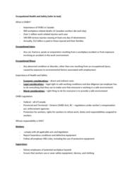 HRM 2600 Lecture Notes - Stress Management, Vocational Rehabilitation, Absenteeism