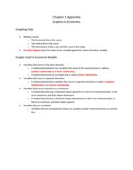 Economics 1021A/B Chapter Notes - Chapter 1: Ceteris Paribus