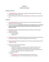 Economics 1021A/B Lecture Notes - Economic Equilibrium, The Surplus, Demand Curve