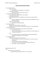 MGT 2070 Lecture Notes - Cartesian Coordinate System, Operations Management