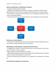 ITM 102 Chapter Notes - Chapter 3: Business Process Reengineering, Business Process, Competitive Advantage