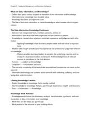 ITM 102 Lecture Notes - Tacit Knowledge, Knowledge Worker, Explicit Knowledge