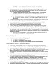 PSYB32H3 Chapter Notes - Chapter 1: Dionne Quintuplets, Child Development, Sigmund Freud