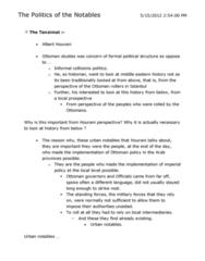 HIST 151 Lecture Notes - Albert Hourani, Tanzimat, Abdul Hamid I