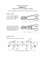 MECH 210 Study Guide - Midterm Guide: Siege Engine, Order Of Merit